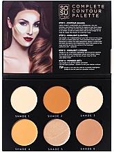 Parfémy, Parfumerie, kosmetika Konturovací paleta na obličej - Sosu by SJ Magnetic Refillable Complete Contour Palette