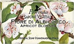 Parfémy, Parfumerie, kosmetika Přírodní mýdlo Meruňkový květ - Florinda Sapone Apricot Blossom Vegetal Soap Bar