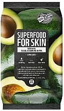 Parfémy, Parfumerie, kosmetika Čisticí pleťové ubrousky Avokádo - Superfood For Skin Fresh Food Facial Cleansing Wipes
