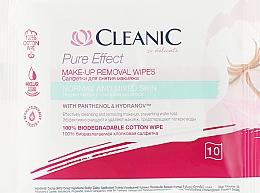 Parfémy, Parfumerie, kosmetika Odličovací ubrousky pro normální pleť, 10 ks - Cleanic Pure Effect Moisturizing