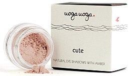 Parfémy, Parfumerie, kosmetika Přírodní oční stíny s jantarem - Uoga Uoga Natural Eye Shadow With Amber