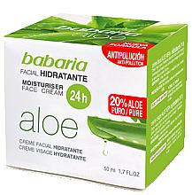 Parfémy, Parfumerie, kosmetika Hydratační krém na obličej s aloe vera - Babaria Aloe Vera 24-Hour Moisturising Face Cream