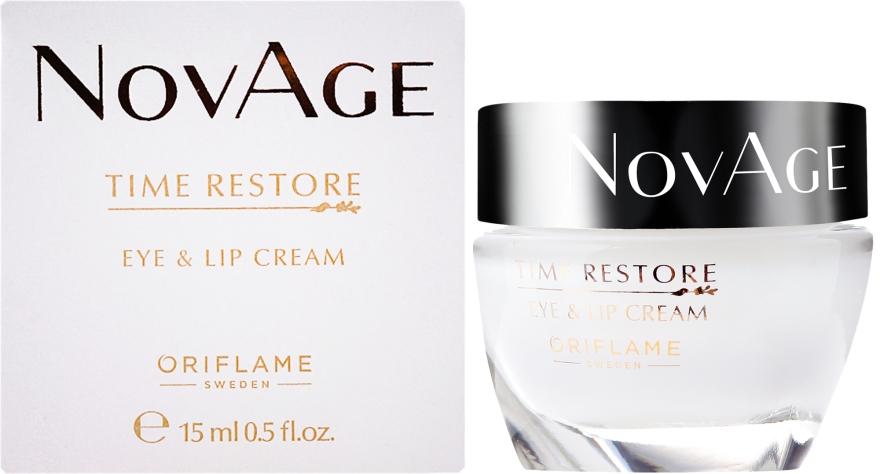 Omlazující krém na kontury oči a rtů - Oriflame NovAge Time Restore Eye & Lip Cream