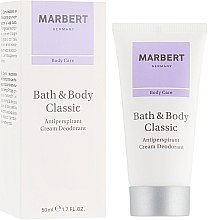 Parfémy, Parfumerie, kosmetika Antiperspirantní krém-deodorant - Marbert Bath & Body Classic Anti-Perspirant Cream Deodorant