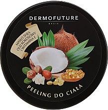 Parfémy, Parfumerie, kosmetika Cukrový tělový peeling s bambuckým máslem a kokosem - DermoFuture Sugar Body Scrub