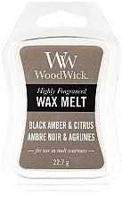 Parfémy, Parfumerie, kosmetika Aromatický vosk - WoodWick Wax Melt Black Amber & Citrus