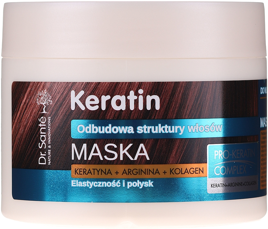 Maska pro matné a křehké vlasy - Dr. Sante Keratin Mask