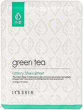 Parfémy, Parfumerie, kosmetika Látková maska pro mastnou a kombinovanou pleť se zeleným čajem - It's Skin Green Tea Watery Mask Sheet