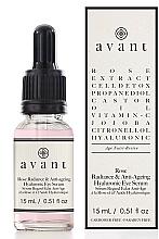 Parfémy, Parfumerie, kosmetika Anti-age oční sérum Rose shine s kyselinou hyaluronovou - Avant Rose Radiance & Anti-ageing Hyaluronic Eye Serum