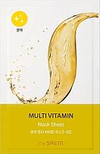 Parfémy, Parfumerie, kosmetika Plátýnková pleťová maska - The Saem Bio Solution Radiance Multi Vitamin Mask Sheet