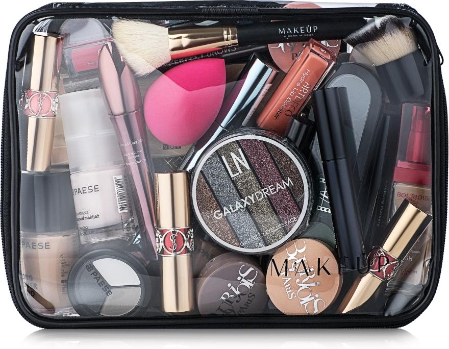 Transparentní kosmetická taštička Visible Bag bez kosmetických prostředků 25x18x8cm - MakeUp