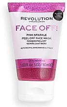 Parfémy, Parfumerie, kosmetika Pleťová peeling-maska - Revolution Skincare Face Off! Pink Glitter Face Off Mask
