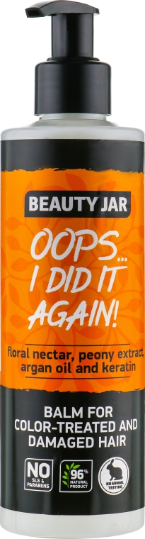 Balzám na poškozené a barvené vlasy - Beauty Jar Oops I Did It Again