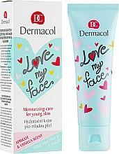 Parfémy, Parfumerie, kosmetika Emulze na obličej s vůní meruněk a vanilky - Dermacol Love My Face Apricot & Vanilla Scent Face Cream