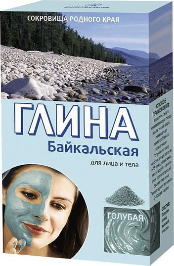 """Hlína na obličej a tělo """"Bajkal"""", světle modrý - Fito Kosmetik"""