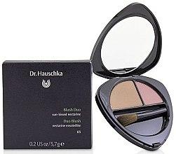 Parfémy, Parfumerie, kosmetika Tvářenka na obličej - Dr. Hauschka Blush Duo