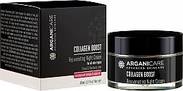 Parfémy, Parfumerie, kosmetika Noční krém proti stárnutí - Arganicare Collagen Boost Rejuvenating Night Cream