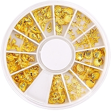 Parfémy, Parfumerie, kosmetika Ozdoba na nehty v kolotoči - Peggy Sage Carousel For Nail Decorations Summer Gold