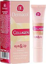 Parfémy, Parfumerie, kosmetika Intenzivní omlazující krém na oči a rty - Dermacol Collagen+ Eye & Lip Cream