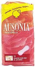 Parfémy, Parfumerie, kosmetika Denní hygienické vložky Anatomica Sanitary Towels, 14 ks - Ausonia