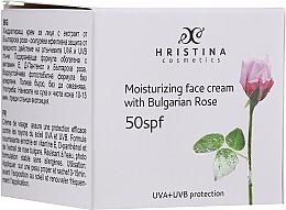 Parfémy, Parfumerie, kosmetika Hydratační pleťový krém SPF50 - Hristina Cosmetics Moisturizing Face Cream With Bulgarian Rose SPF50