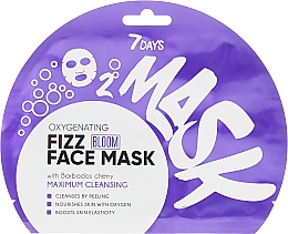 Parfémy, Parfumerie, kosmetika Kyslíková šumivá maska na obličej - 7 Days Bloom Maximum Cleansing Sheet Mask