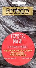 Parfémy, Parfumerie, kosmetika Obličejová maska s dřevěným uhlím a zeleným jílem - Perfecta Express Mask