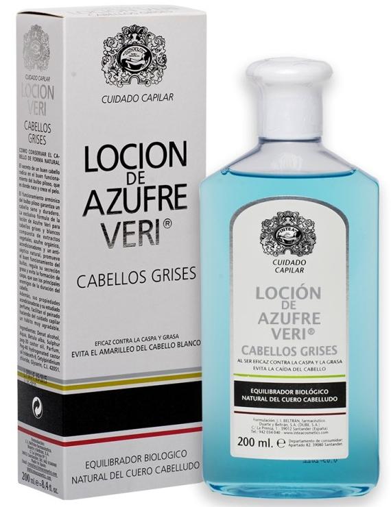 Lotion proti vypadávání vlasů - Intea Azufre Veri Balance Lotion for Grey Hair — foto N1