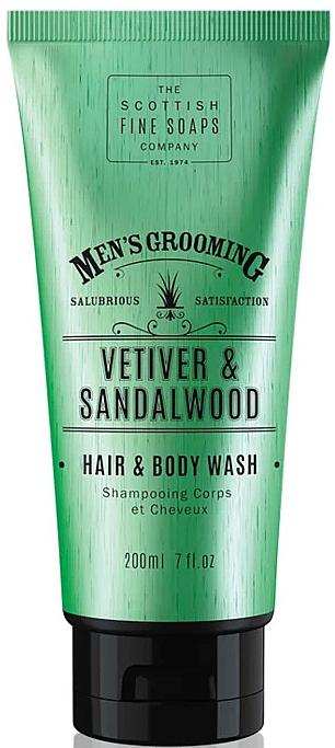 Šampon a sprchový gel Vetiver a santalové dřevo - Scottish Fine Soaps Vetiver & Sandalwood Hair Body Wash