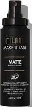 Parfémy, Parfumerie, kosmetika Primer ve spreji na obličej - Milani Make It Last Matte Charcoal Setting Spray