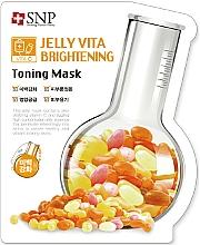 Parfémy, Parfumerie, kosmetika Plátýnková pleťová maska s vitamínem C - SNP Jelly Vita Brightening Toning Mask