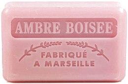 Parfémy, Parfumerie, kosmetika Marseille mýdlo Dřevitý jantar - Foufour Savonnette Marseillaise Ambre Boisee