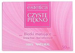 Parfémy, Parfumerie, kosmetika Matující ubrousky na obličej - Czyste Piekno