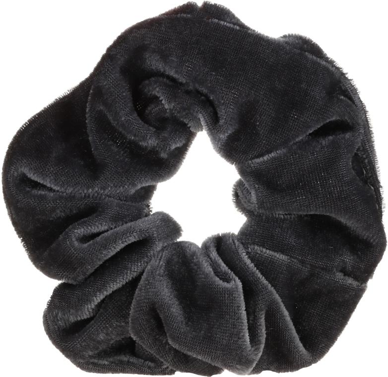"""Gumička na vlasy """"Velvet"""", šedý, 22777 - Top Choice"""