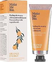 Parfémy, Parfumerie, kosmetika Peeling na obličej s rostlinnými kyselinami - Make Me Bio Orange Energy Face Peeling With Vegetal Acids