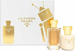 Parfémy, Parfumerie, kosmetika Prada La Femme Prada - Sada (edp/50ml + b/lot/100ml)