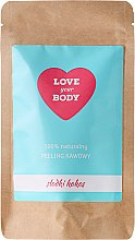 "Parfémy, Parfumerie, kosmetika Kávový tělový peeling ""Sladký kokos "" - Love Your Body Peeling"