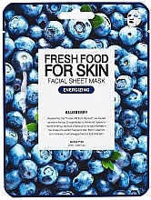 Parfémy, Parfumerie, kosmetika Plátýnková pleťová maska Borůvka - Superfood For Skin Facial Sheet Mask Blueberry Energizing