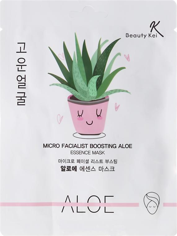 Plátýnková maska na obličej - Beauty Kei Micro Facialist Boosting Aloe Essence Mask — foto N1