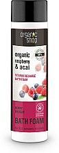 """Parfémy, Parfumerie, kosmetika Pěna do koupele """"Vitaminový náboj. Jahodová radost"""" - Organic Shop Organic Acai and Raspberry Berry Bath Foam"""