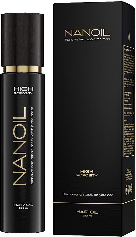 Olej na vlasy s vysokou pórovitostí - Nanoil Hair Oil High Porosity — foto N1