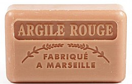 Parfémy, Parfumerie, kosmetika Marseille mýdlo Červený jíl - Foufour Savonnette Marseillaise Argile Rouge