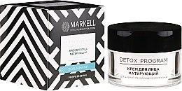 Parfémy, Parfumerie, kosmetika Krém na obličej matující pro mastnou a kombinovanou pleť - Markell Cosmetics Detox Program Face Cream
