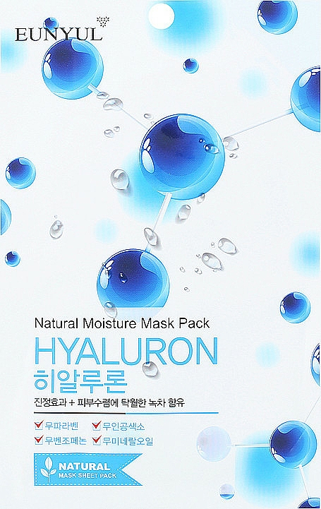 Látková pleťová maska s kyselinou hyaluronovou - Eunyul Natural Moisture Hyaluron Mask Pack