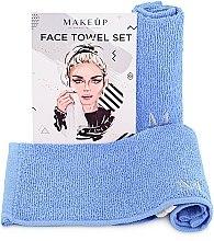 """Parfémy, Parfumerie, kosmetika Cestovní sada ručníků na obličej, modré """"MakeTravel"""" - Makeup Face Towel Set"""