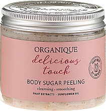 Parfémy, Parfumerie, kosmetika Cukrový peeling pro tělo - Organique Delicious Touch Body Sugar Peeling