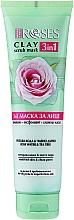 Parfémy, Parfumerie, kosmetika Jílová pleťová maska s růžovou vodou a čajovníkem - Nature Of Agiva Roses Green Clay 3 In 1 Scrub Mask