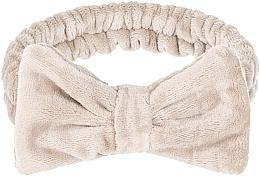 Parfémy, Parfumerie, kosmetika Kosmetická čelenka Wow Bow - Makeup Beige Hair Band