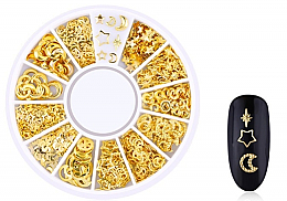 Parfémy, Parfumerie, kosmetika Ozdoby na nehty Gold-3 - Deni Carte