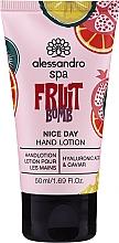 Parfémy, Parfumerie, kosmetika Lotion na ruce Ovocná bomba - Alessandro International Spa Fruit Bomb Hand Lotion